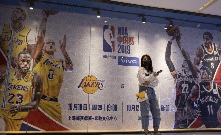 Serie Lakers-Nets en China acaba en silencio