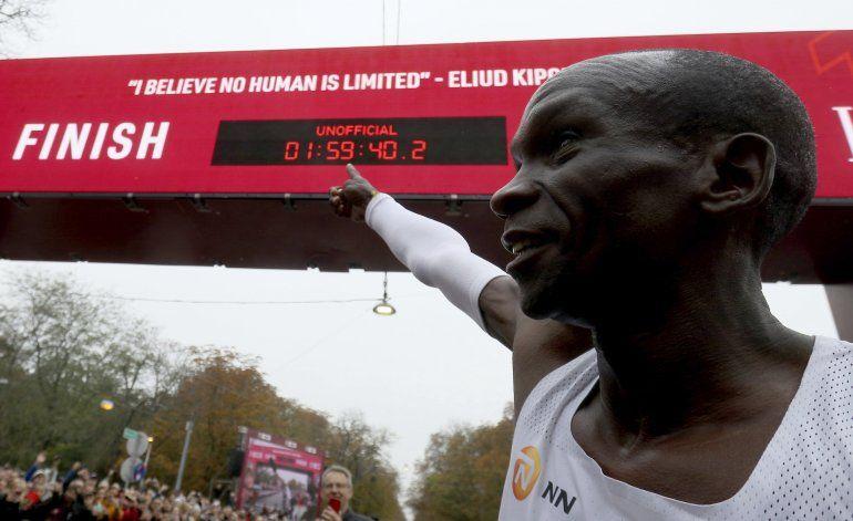 Kipchoge, primero que baja las 2 horas en un maratón