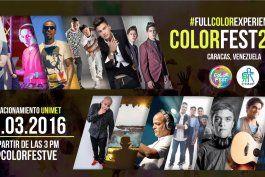 color fest: artistas venezolanos unidos por los ninos con cancer ? evento organizado por acosta  brothers y honu producciones.