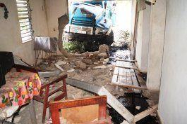 muere el chofer de un camion tras embestir una vivienda en guantanamo