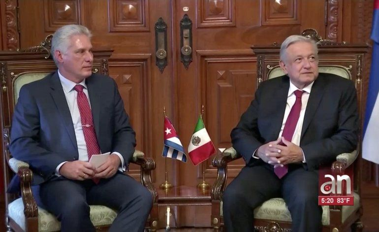 Díaz-Canel habría ido a México a pedir ayuda para llevar petróleo a Cuba