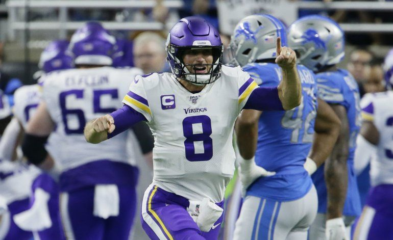 Cousins logra 4 pases de anotación; Vikings vencen a Lions