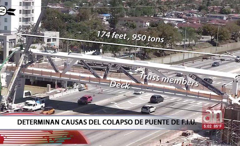 Dan a conocer las causas del derrumbe del puente de FIU