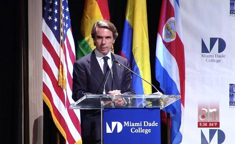 Foro de ex mandatarios de España y América Latina en el Miami Dade Collage