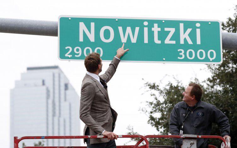 Renombran calle de Dallas en honor a Nowitzki