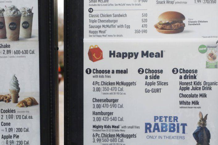 Calorías en menú afectan poco las órdenes de clientes