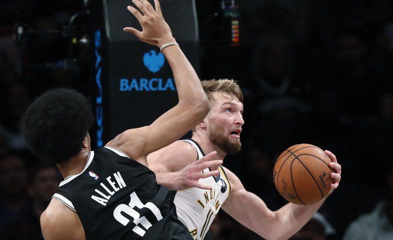Pacers obtienen su primer triunfo, 118-108 sobre Nets