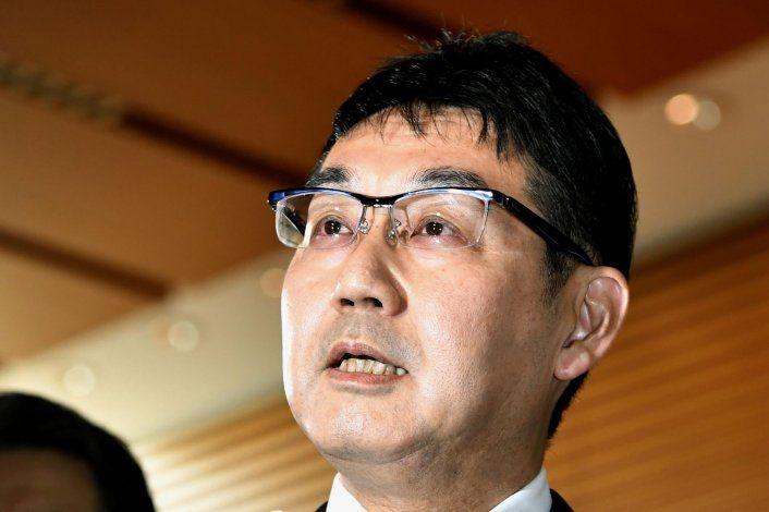 Renuncia el ministro de justicia de Japón