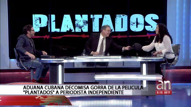 Aduana cubana decomisa gorra de la película Plantados  a periodista independiente