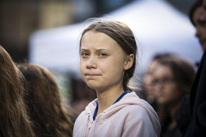 Greta Thunberg encabeza protesta ecologista en Los Ángeles