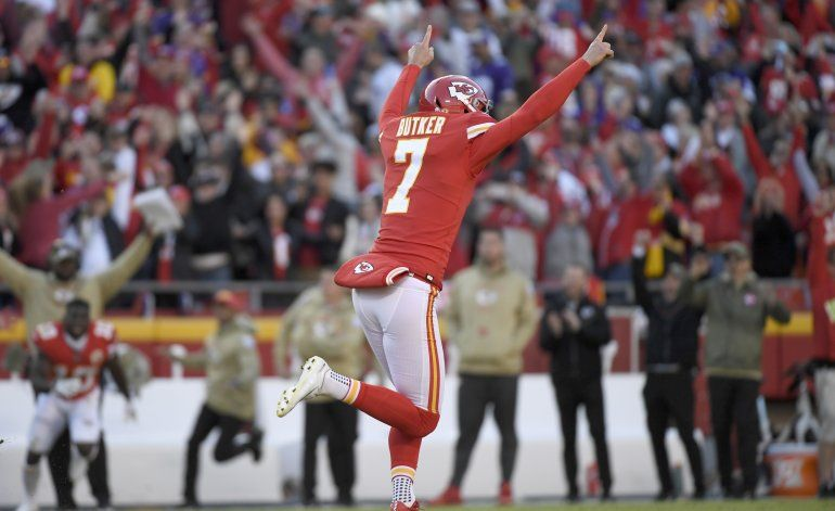 Con gol de campo de Butker, Chiefs vencen a Vikings