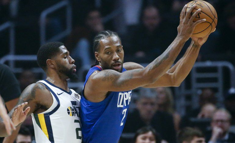 Leonard brilla en 4to periodo; Clippers vencen a Jazz