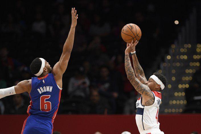 Beal guía a Wizards a triunfo sobre diezmados Pistons