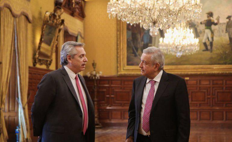 Presidente electo de Argentina visita a mandatario de México
