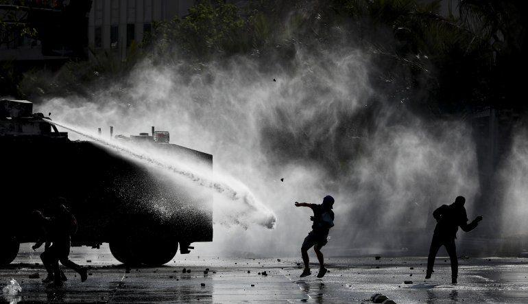 Protestas parecen decaer en la capital chilena