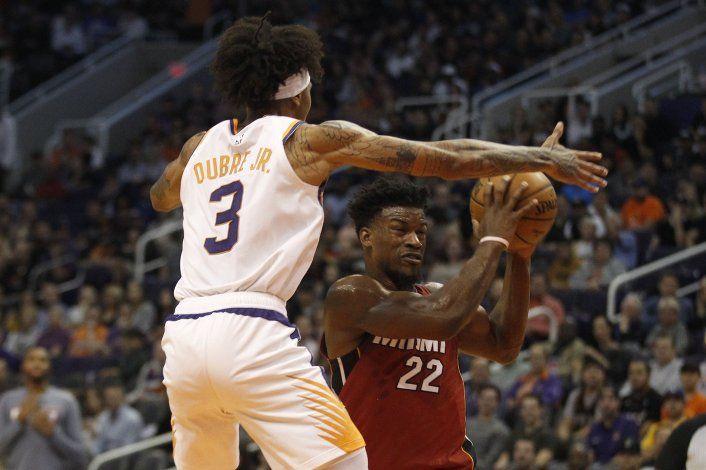 Butler y Dragic comandan triunfo del Heat 124-108 sobre Suns