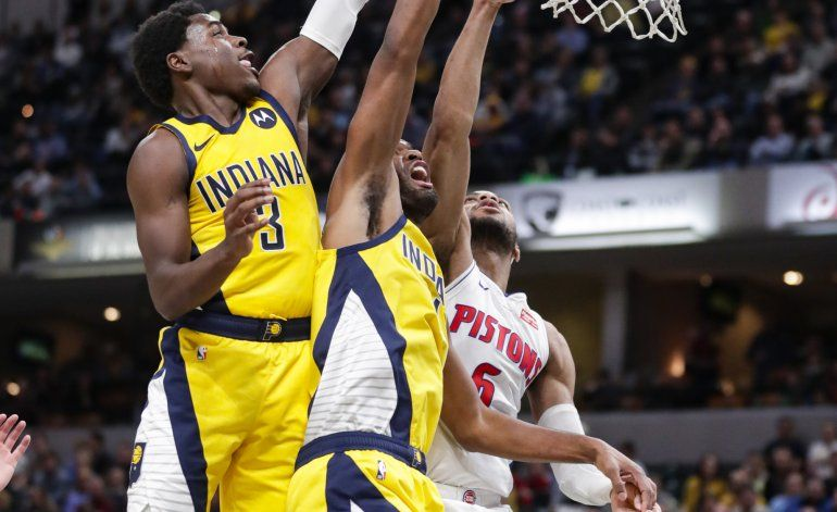 Pese a tener lesionados, Pacers ganan 112-106 a Pistons