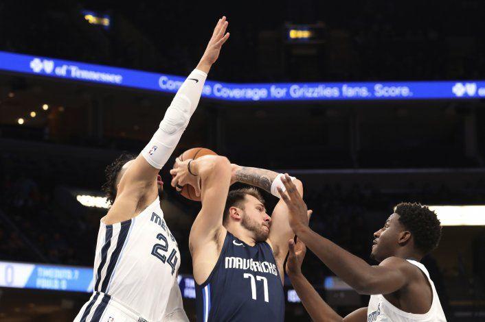 Doncic anota 24 unidades; Mavericks doblegan a Grizzlies