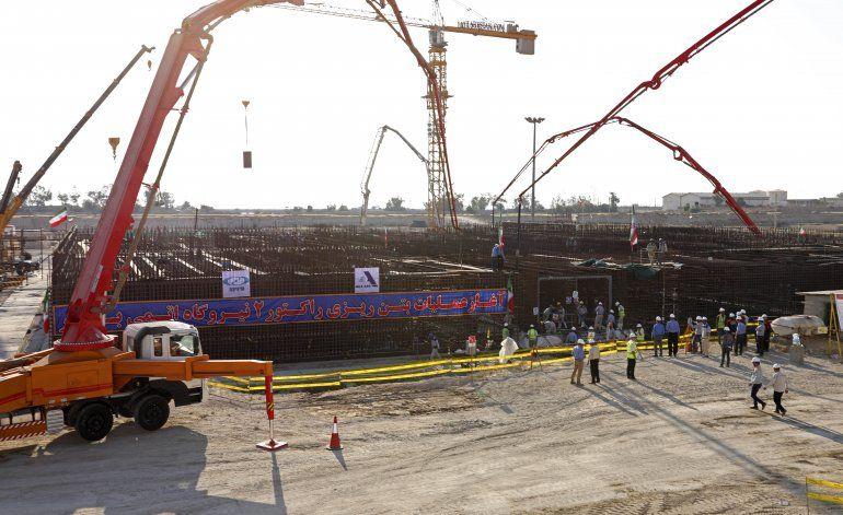 Irán avanza construcción de segundo reactor nuclear
