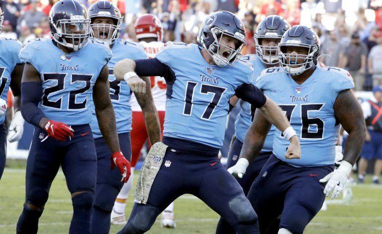 Titans estropean regreso de Mahomes; vencen a Chiefs