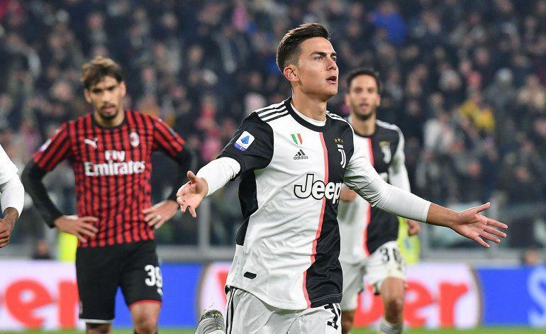 Dybala anota para que Juventus derrote al Milan 1-0