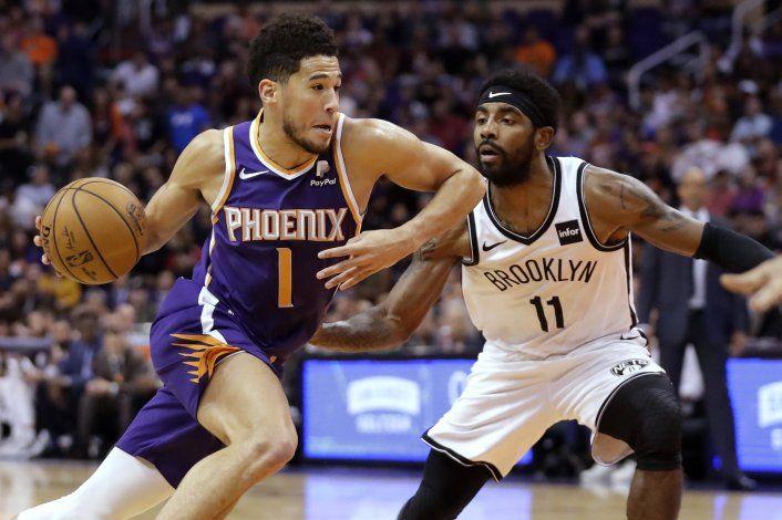 Con 27 de Booker, Suns arrollan a Nets