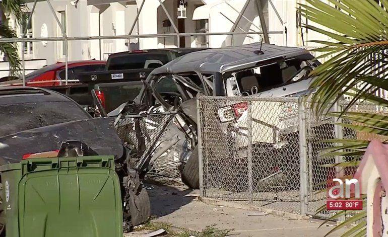 Accidente múltiple en Hialeah deja 3 heridos
