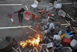 protestas causan problemas viales y violencia en hong kong