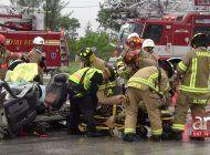 bomberos hicieron demostraciones a la comunidad de como actuar en caso de accidente