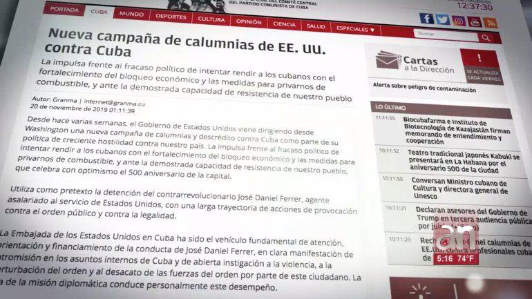 Régimen acusa a jefa de embajada de EEUU en Cuba de campaña de calumnias por arresto de José Daniel Ferrer
