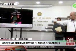 gobierno interino revelo audio de evo morales incitando a violencia