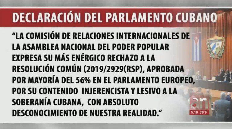 Cuba acusa de ser injerencista al parlamento europeo por su condena al arresto de José Daniel Ferrer