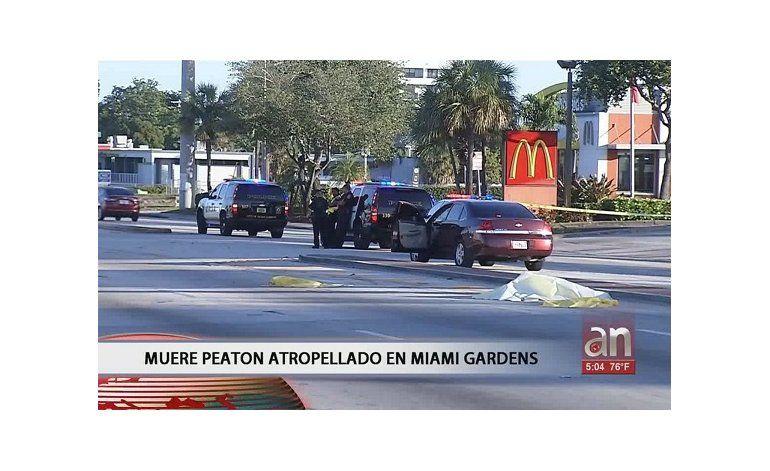 Muere un peatón atropellado por un automóvil en Miami Gardens