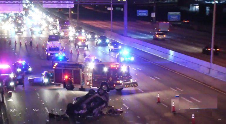 1 muerto, 4 heridos por accidente automovilístico en la I-95