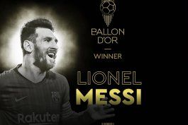 el astro argentino lionel messi conquista su sexto balon de oro