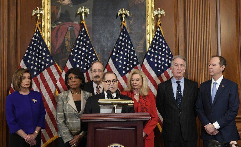 Los demócratas anuncian dos acusaciones contra Trump