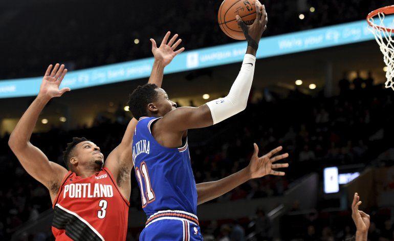 Los Knicks sufren ante Trail Blazers su 10ma derrota seguida