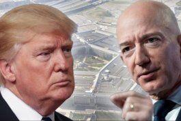 trump vs. bezos: como dos de los hombres mas poderosos del mundo estan enfrentados por un millonario contrato del pentagono
