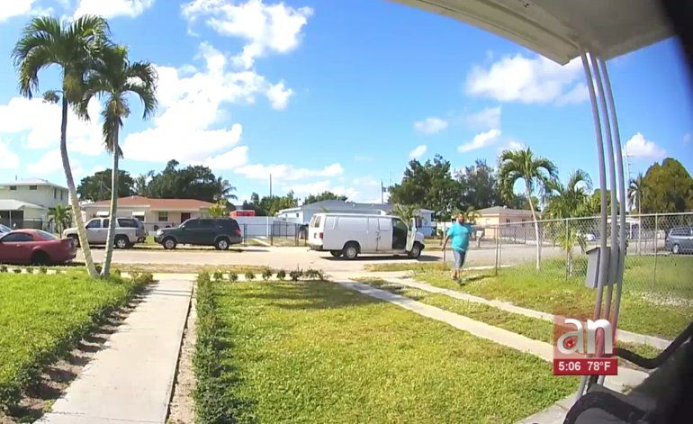 Captados en cámara quedaron dos robos ocurridos en menos de 24 horas en viviendas de Miami