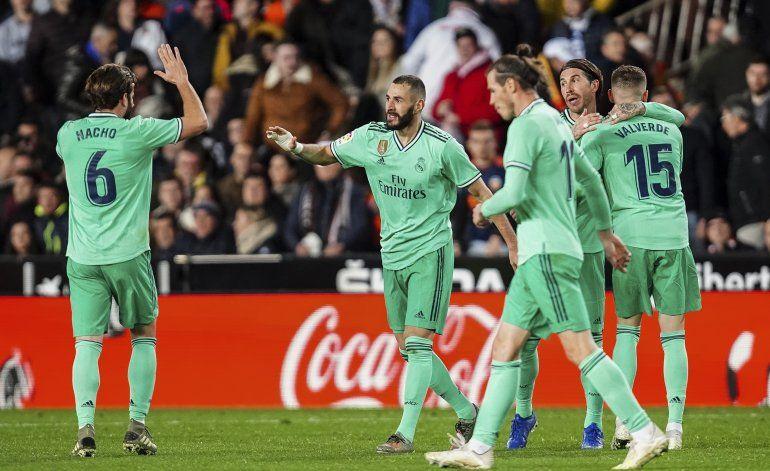 Real Madrid rescata dramático empate ante Valencia