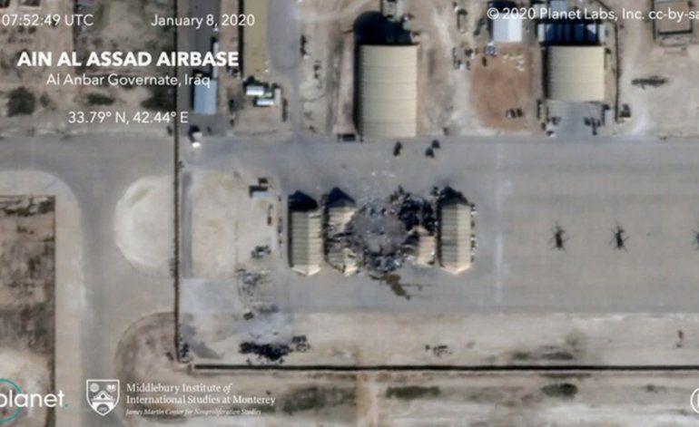 Las imágenes satelitales que muestran el impacto del ataque iraní a las bases de Estados Unidos en Irak