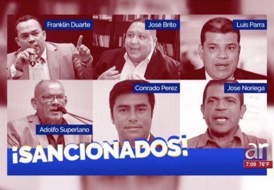 Depártamento del Tesoro sanciona a 7 diputados de la Asamblea Nacional Venezolana
