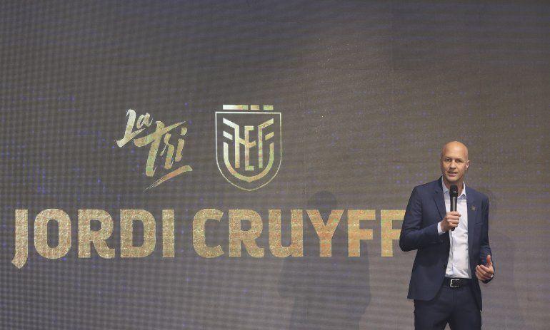 Jordi Cruyff, nuevo técnico de Ecuador