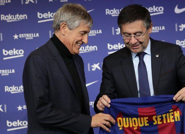 En el Barcelona, Setién dirigirá al equipo que venera