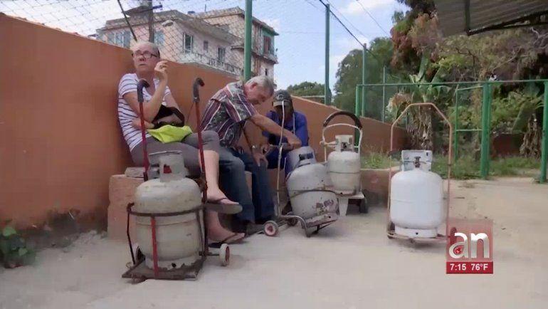 Régimen reconoce nueva escasez de gas licuado en Cuba y culpa a EEUU