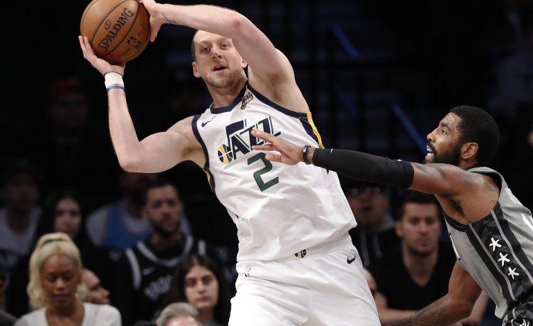 Jazz hila 10mo triunfo, tras doblegar a Nets
