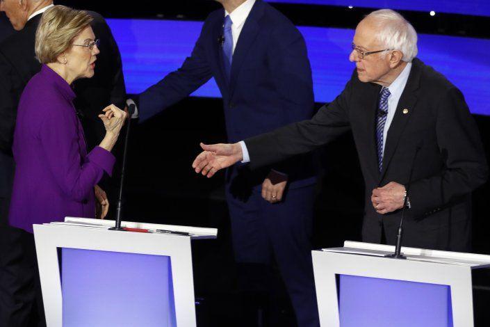 Warren defiende en debate que una mujer puede ganar a Trump