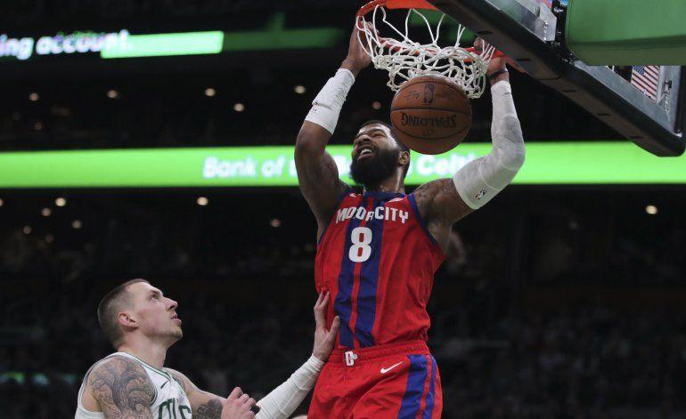 Pistons ponen fin a racha de derrotas, vencen a Celtics