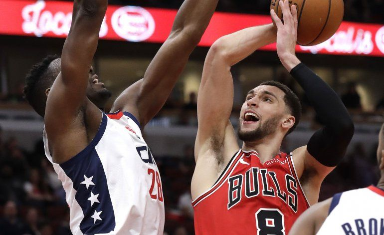 LaVine conduce a Bulls a victoria sobre Wizards