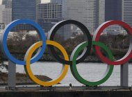 llegan los anillos olimpicos a tokio